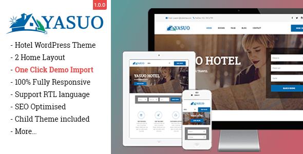 Download Gon Yasuo - Hotel WordPress Theme Hotel WordPress Themes