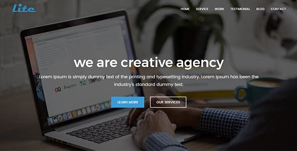 Download Lite - Digital Agency HTML Template Youtube Html Templates