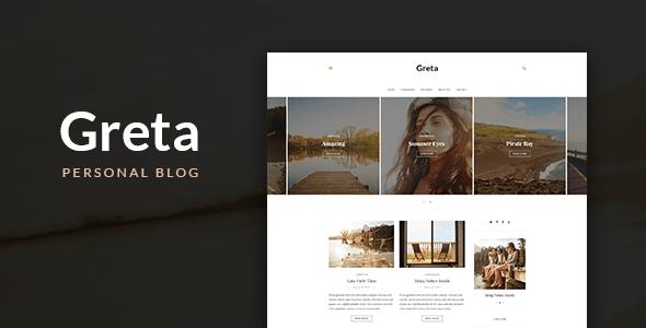 Download Greta - Blog HTML Template Blog Html Templates