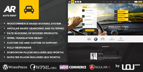 Download Auto Rent - Car Rental WordPress Theme Automotive WordPress Themes