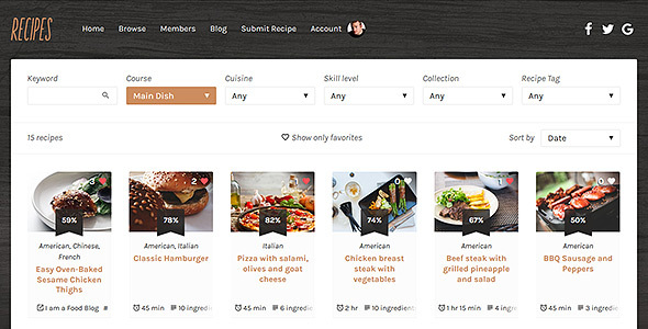Download Recipes WordPress Theme Recipe WordPress Themes