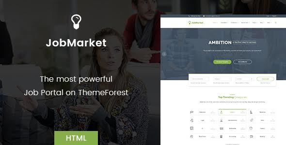 Download JobMarket - Job Portal HTML Template (Multipurpose) Portal Html Templates