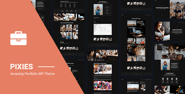 Download Portfolio | Pixies Portfolio Agency WordPress Themes 2017