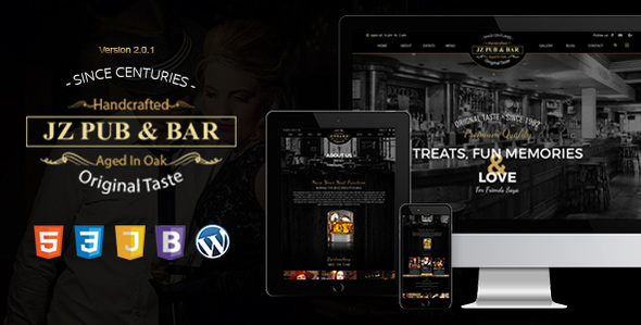 Download Jz Pub & Bar WordPress Theme Amp WordPress Themes