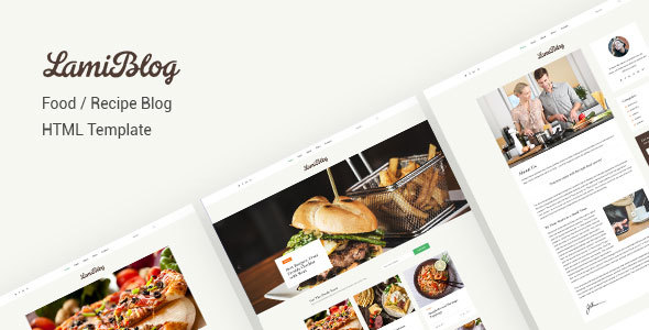 Download Lamiblog | Food, Recipe Blogging HTML Template Blog Html Templates