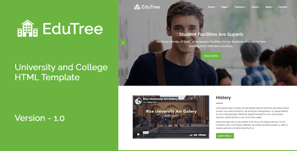 Download EduTree - University and College HTML Template University Html Templates