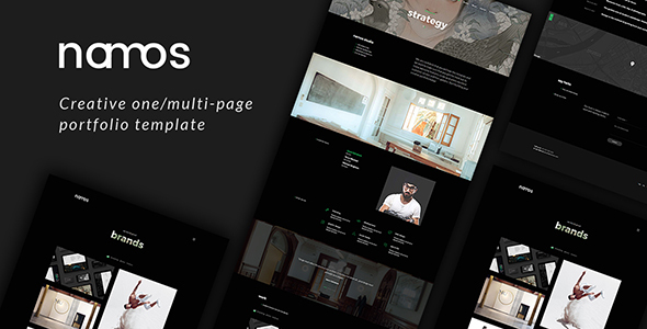 Download Namos - Creative One/Multi-Page Portfolio Template Video Blogger Templates