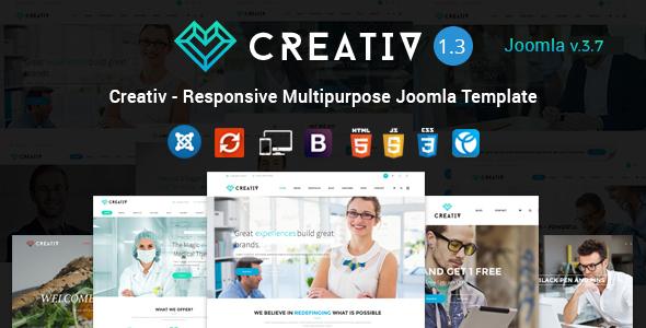 Download Creativ - Responsive Multipurpose Joomla Template Elegant Joomla Templates