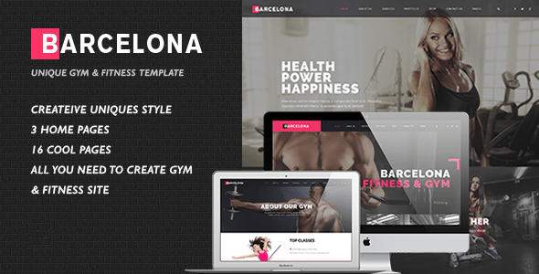 Download Barcelona - HTML/CSS Template for Fitness Gym and Fitness Centers Cute Html Templates