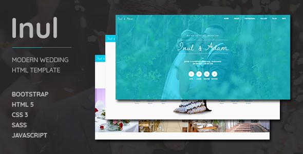 Download Inul Modern Wedding HTML Template Wedding Html Templates