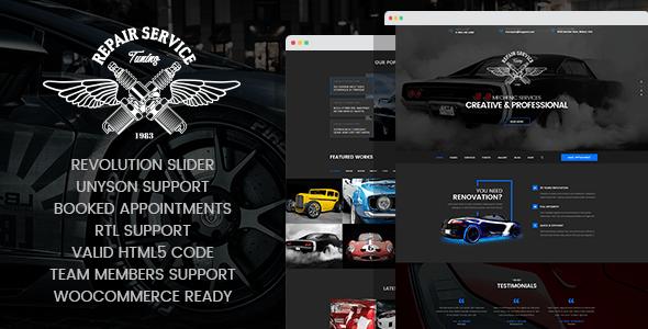 Download CarRepair - Auto-Tuning WordPress theme Automotive WordPress Themes