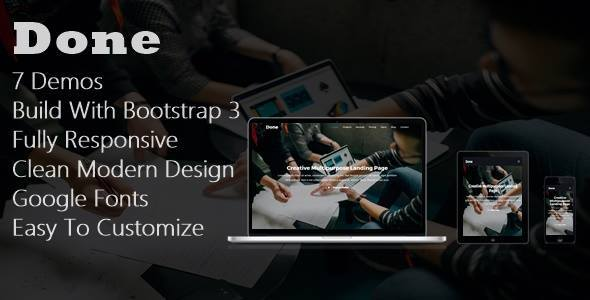 Download Done - One Page Template Onepage Blogger Templates