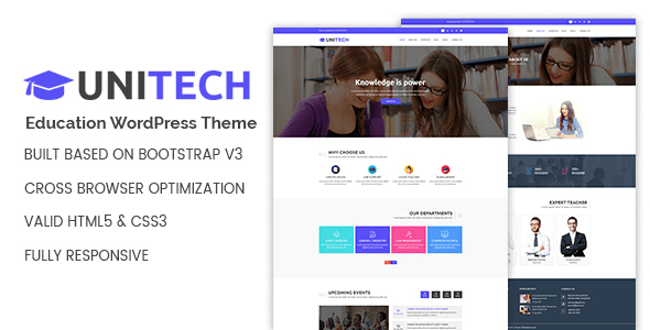 Download Unitech - Education WordPress Theme Education WordPress Themes