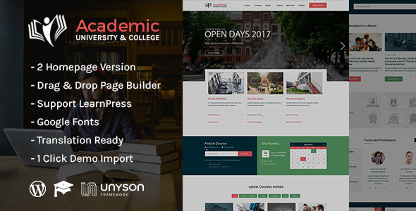 Download Academic - Education WordPress Theme Education WordPress Themes