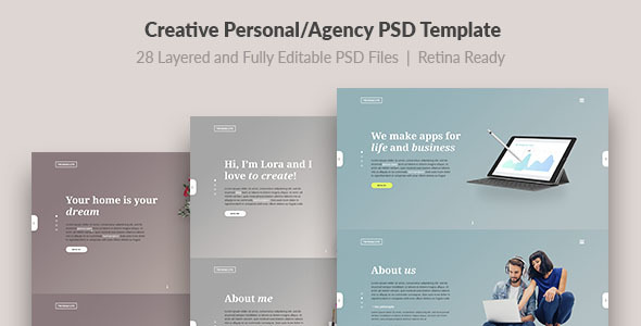 Download Trend — Modern and Creative Personal/Agency PSD Template Cute Html Templates