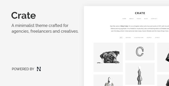Download Crate - Minimalist WordPress Theme Minimalist WordPress Themes