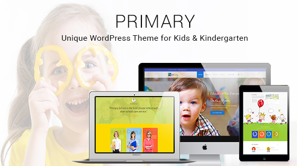 Download Primary -  Kids and School WordPress Theme | Education Material Design WP School WordPress Themes