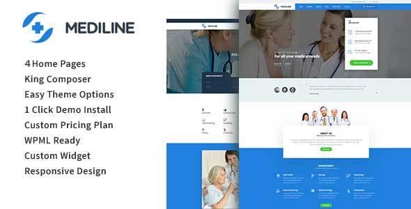 Download Mediline - Medical & Health WordPress Theme Health WordPress Themes