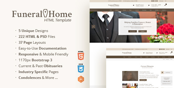 Download Funeral Home - Funeral Services & Church HTML Template Amp Html Templates