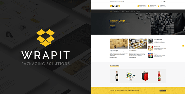 Download WrapIt - Packaging Company WordPress Theme Company WordPress Themes