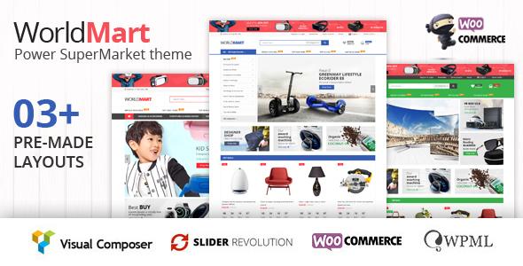 Download Worldmart - WooCommerce WordPress Theme Woocommerce WordPress Themes