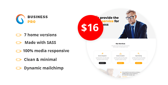 Download Business Pro - Multipurpose Business HTML Template Business Html Templates