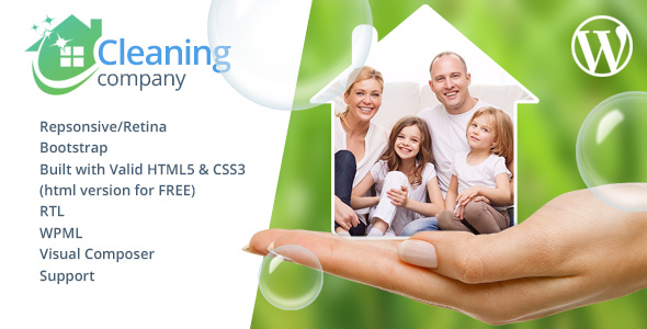 Download Cleaning Services WordPress Theme + RTL Clean WordPress Themes