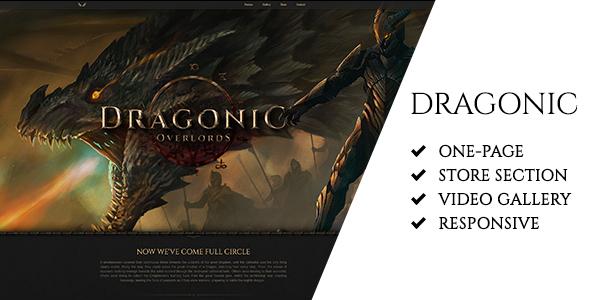 Download Dragonic: The Ultimate Premium Gaming Landing Page Game Html Templates