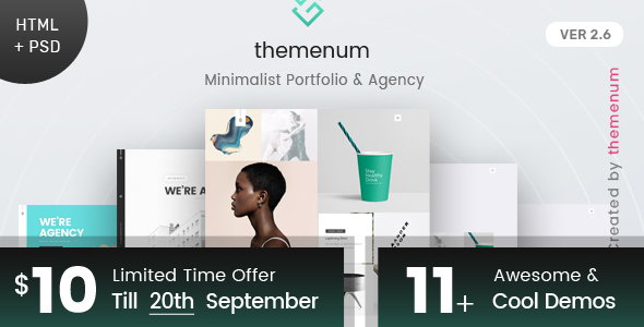 Download Themenum - Creative Portfolio Template HTML+PSD Amp Html Templates