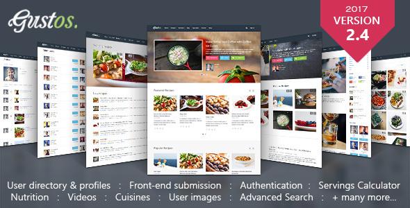 Download Gustos - Community-Driven Recipes, WordPress Theme Recipe WordPress Themes