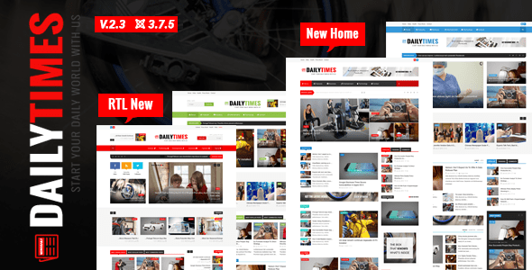 Download DailyTimes - News and Magazine Joomla Template Magazine Joomla Templates