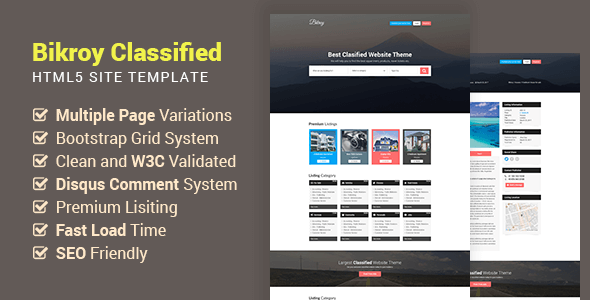 Download Bikroy - Classified, Directory Listing Website HTML Template Directory Html Templates