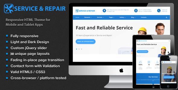Download Center repair - Home Maintenance, Repair Services HTML Template Interior Html Templates