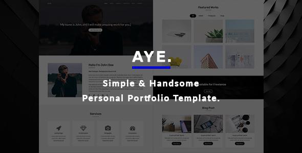 Download AYE - Personal Portfolio Template Youtube Html Templates