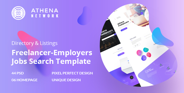 Download ATHENA - Freelancer and Employers Jobs Search Template Job Joomla Templates