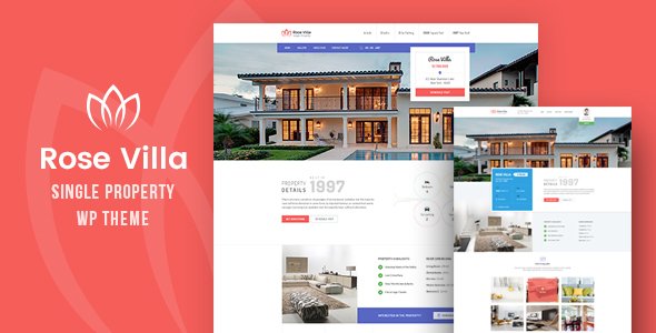 Download Rose Villa - Single Property, Real estate WordPress Theme Property WordPress Themes
