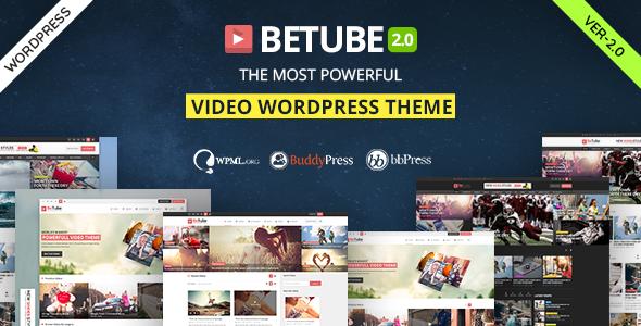 Download Betube Video WordPress Theme Movie WordPress Themes