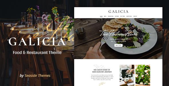 Download Galicia - Restaurant WordPress Theme Restaurant Wordrpess Themes