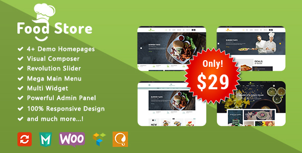 Download Food Store - Responsive WooCommerce WordPress Theme Restaurant Wordrpess Themes