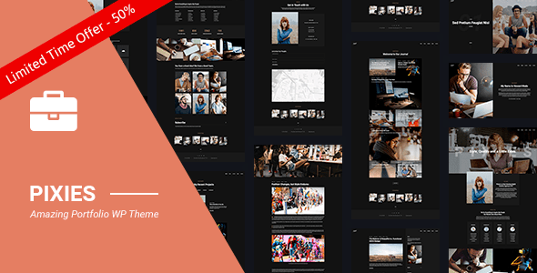 Download Portfolio | Pixies Portfolio Agency Grid WordPress Themes