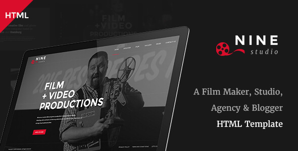 Download Nine Studio - A Film Maker, Studio, Agency & Blogger HTML Template Youtube Blogger Templates
