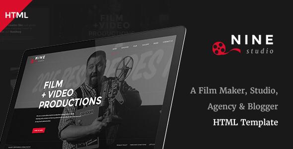 Download Nine Studio - A Film Maker, Studio, Agency & Blogger HTML Template Video Blogger Templates