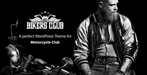 Download Bikersclub - Motorcycle Responsive WordPress Theme Black WordPress Themes