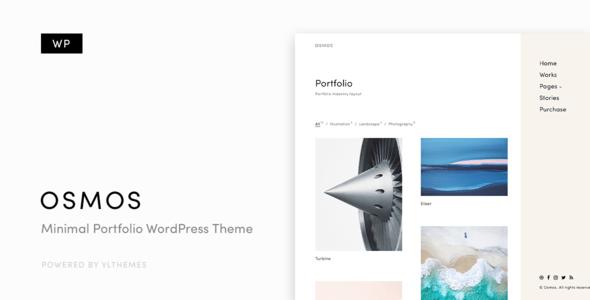 Download Osmos - Minimalist Portfolio WordPress Theme Minimalist WordPress Themes
