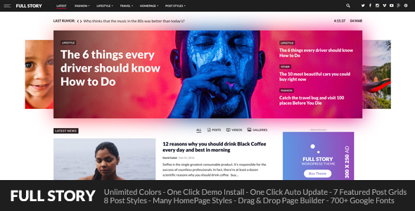 Download FullStory - WordPress Theme for Blog / Magazine / Newspaper Newspaper WordPress Themes