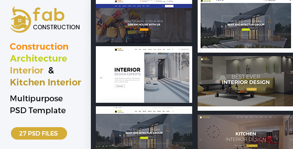 Download Fab Construction - PSD Template Minimalist Joomla Templates
