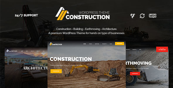 Download Construction – Building Companies WordPress Theme Company WordPress Themes