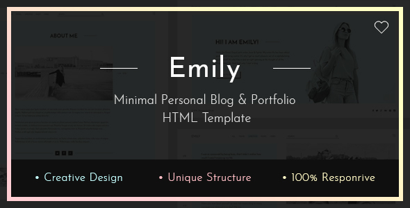 Download Emily — Personal Blog HTML Template Blog Html Templates