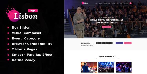Download lisbon - Conference & Event WordPress Theme Event WordPress Themes