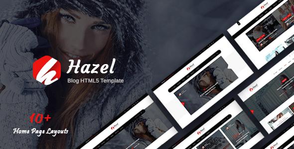 Download Hazel - Personal Blog HTML Template Blog Html Templates